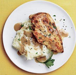 receta de puré de papa con pollo